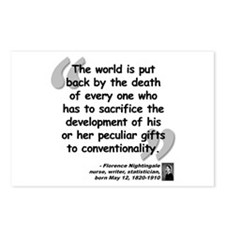 Nightingale Gifts Quote Postcards (Package of 8)