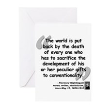 Nightingale Gifts Quote Greeting Cards (Pk of 20)