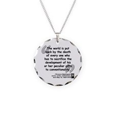 Nightingale Gifts Quote Necklace Circle Charm