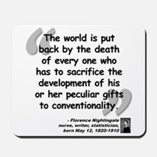 Nightingale Gifts Quote Mousepad