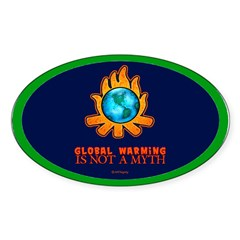 Global Warming Oval Decal
