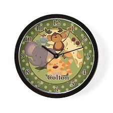Jungle Safari Wall Clock Personalized Colton