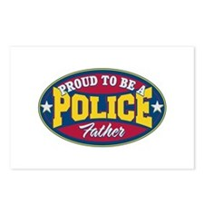 Proud to be a Police Father Postcards (Package of