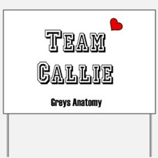 Team Callie Heart Greys Yard Sign