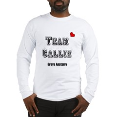 Team Callie Heart Greys Long Sleeve T-Shirt