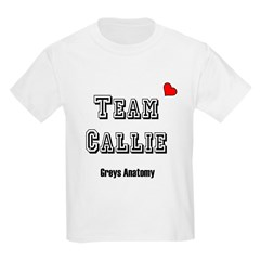 Team Callie Heart Greys T-Shirt