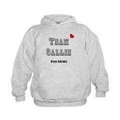 Team Callie Heart Greys Hoodie