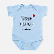 Team Callie Heart Greys Infant Bodysuit