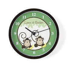 Silly Monkeys Wall Clock - Liam and Stefan