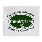 Chesapeake Arboretum Logo Throw Blanket
