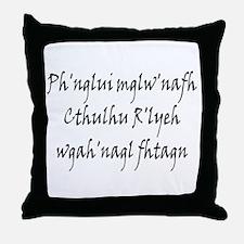 HPL: Ph'nglui Throw Pillow