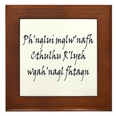 HPL: Ph'nglui Framed Tile