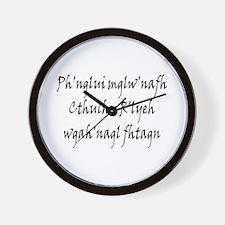 HPL: Ph'nglui Wall Clock