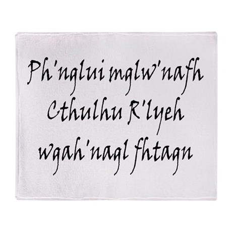 HPL: Ph'nglui Throw Blanket