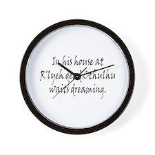 HPL: Cthulhu Wall Clock