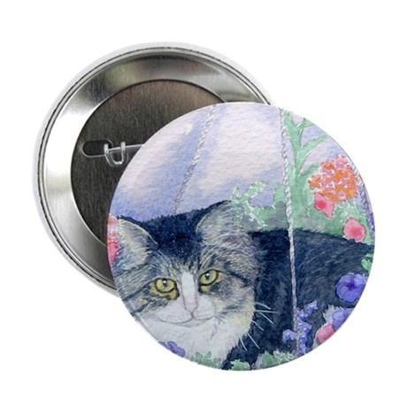 """Cat in hanging basket 2.25"""" Button (10 pack)"""