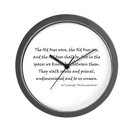HPL: Old Ones Wall Clock