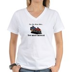 Too Much Muscle Women's V-Neck T-Shirt