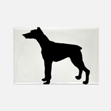 Doberman Pinscher Silhouette Rectangle Magnet