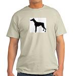 Doberman Pinscher Silhouette Light T-Shirt