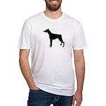 Doberman Pinscher Silhouette Fitted T-Shirt