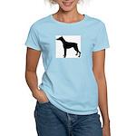 Doberman Pinscher Silhouette Women's Light T-Shirt