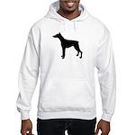 Doberman Pinscher Silhouette Hooded Sweatshirt