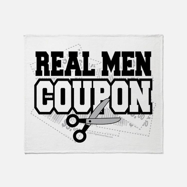 Real Men Coupon Throw Blanket