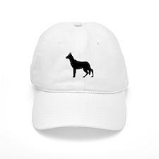 German Shepherd Silhouette Baseball Cap