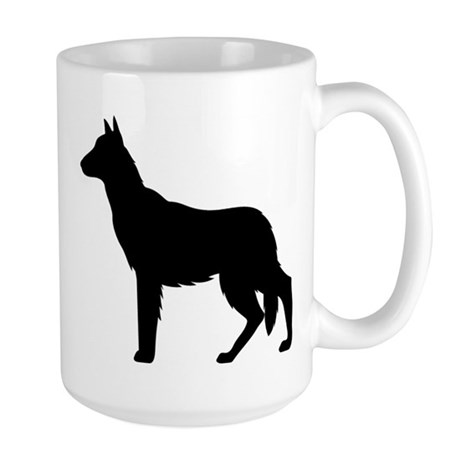 German Shepherd Silhouette Large Mug