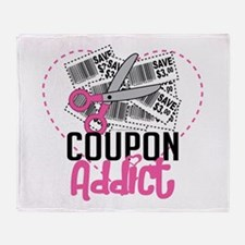 Coupon Addict Throw Blanket