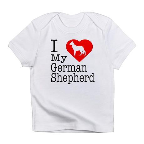 I Love My German Shepherd Infant T-Shirt