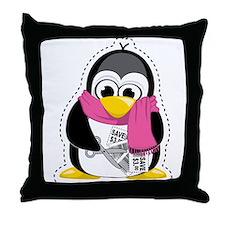 Coupon Penguin Throw Pillow