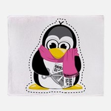 Coupon Penguin Throw Blanket