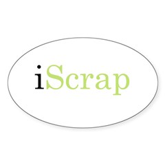 iScrap Oval Decal