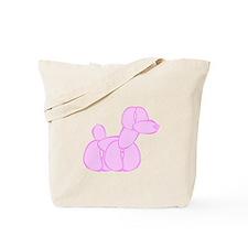 pink ballon dog Tote Bag