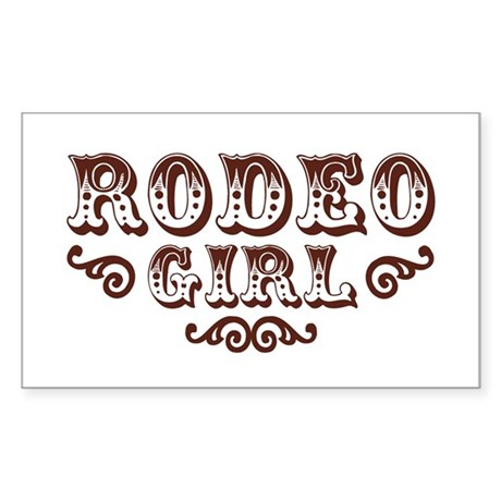 Rodeo Girl Rectangle Sticker
