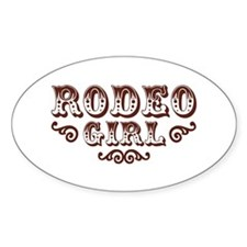 Rodeo Girl Oval Decal