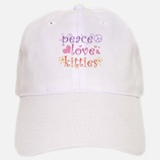 Peace Love Kitties Baseball Baseball Cap