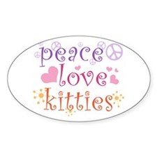 Peace Love Kitties Decal