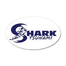 Shark Tsunami 22x14 Oval Wall Peel