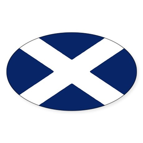 Scottish Flag Auto Decal / Sticker (Oval)