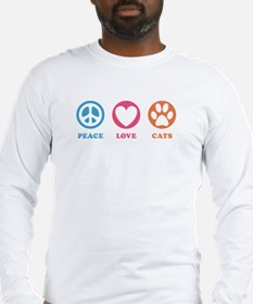 Peace Love Cats [r] Long Sleeve T-Shirt