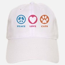 Peace Love Cats [r] Baseball Baseball Cap