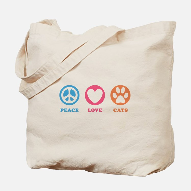 Peace Love Cats [r] Tote Bag