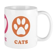 Peace Love Cats [r] Mug