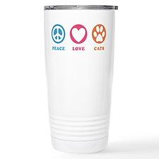 Peace Love Cats [r] Travel Mug