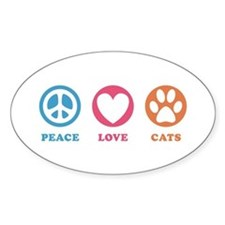 Peace Love Cats [r] Decal