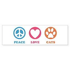 Peace Love Cats [r] Bumper Sticker