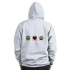 Peace Love Dogs [i] Zip Hoodie